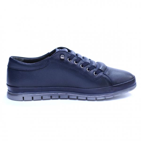 Pantofi barbati din piele naturala, Snk, Goretti, Albastru, 40 EU [4]