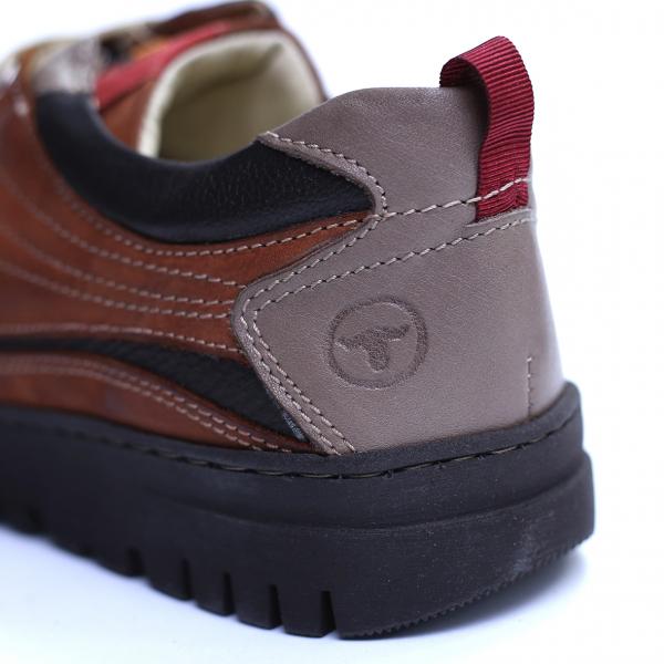 Pantofi barbati din piele naturala, JK, Gitanos, Maro, 39 EU 2