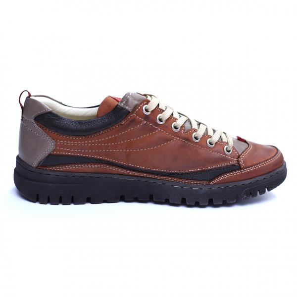 Pantofi barbati din piele naturala, JK, Gitanos, Maro, 39 EU 3