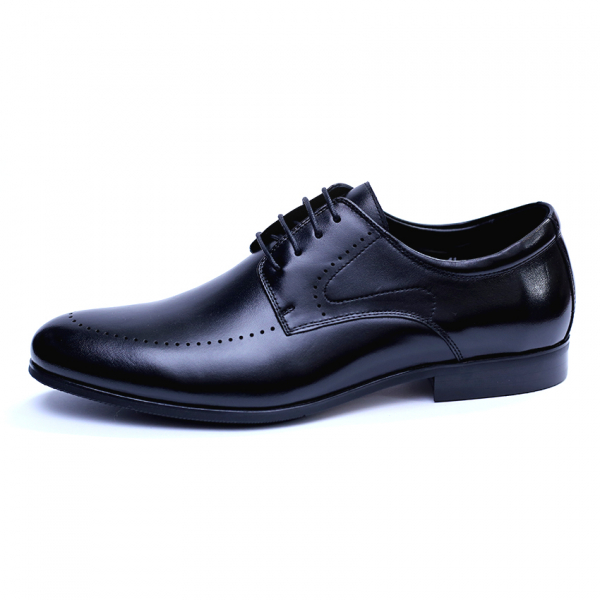 Pantofi barbati din piele naturala, Lee, SACCIO, Negru, 39 EU [3]