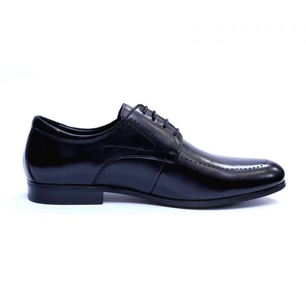 Pantofi barbati din piele naturala, Lee, SACCIO, Negru, 39 EU [5]