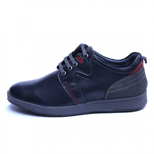 Pantofi barbati din piele naturala, Martin, Gitanos, Bleumarin, 39 EU 2