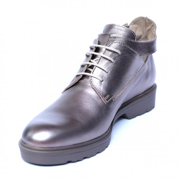 Pantofi dama din piele naturala, AML, Peter, Argintiu, 41 EU [0]