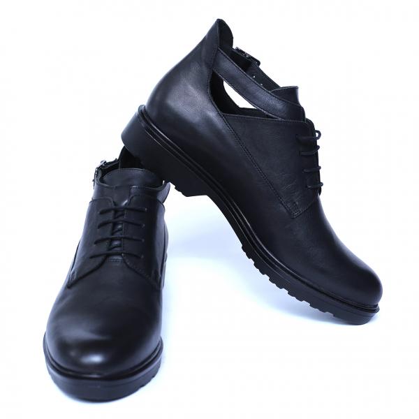 Pantofi dama din piele naturala, AML, Negru, 36 EU 1