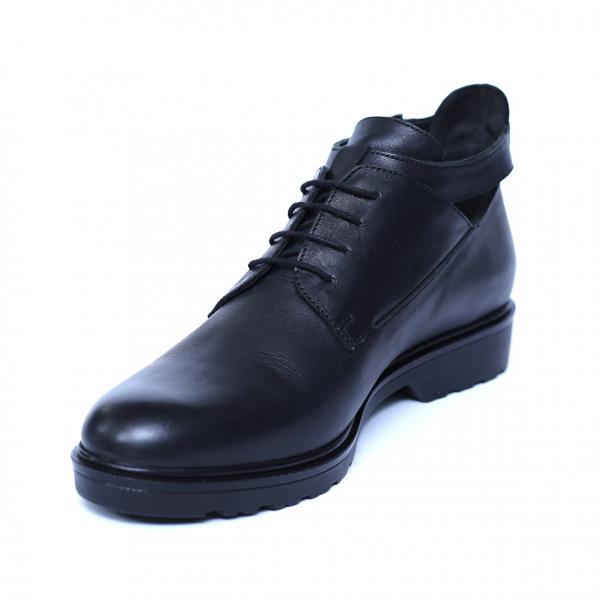 Pantofi dama din piele naturala, AML, Negru, 36 EU 2
