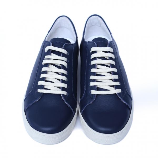 Pantofi dama din piele naturala, Verona, Peter, Albastru, 41 EU 2