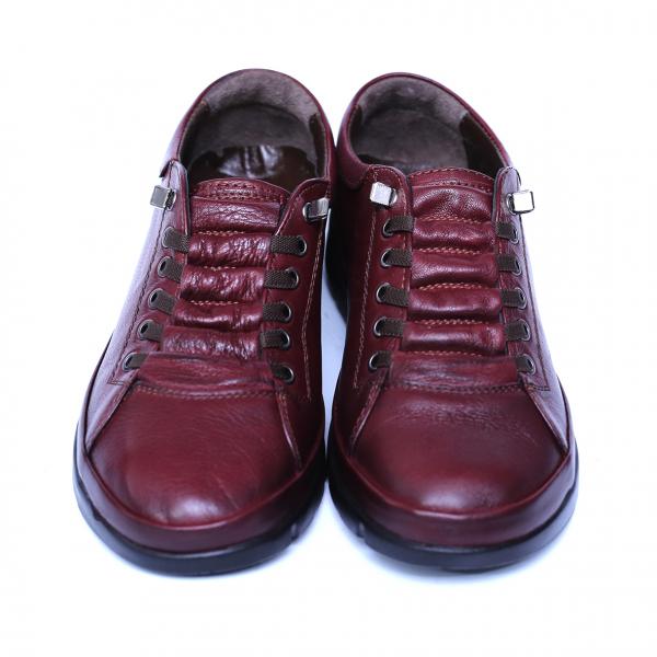 Pantofi dama din piele naturala, Snk, Goretti, Bordeaux, 37 EU 1