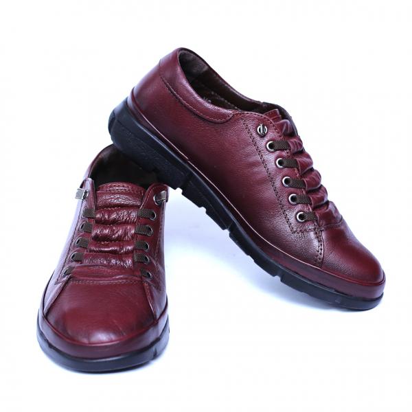 Pantofi dama din piele naturala, Snk, Goretti, Bordeaux, 37 EU 2