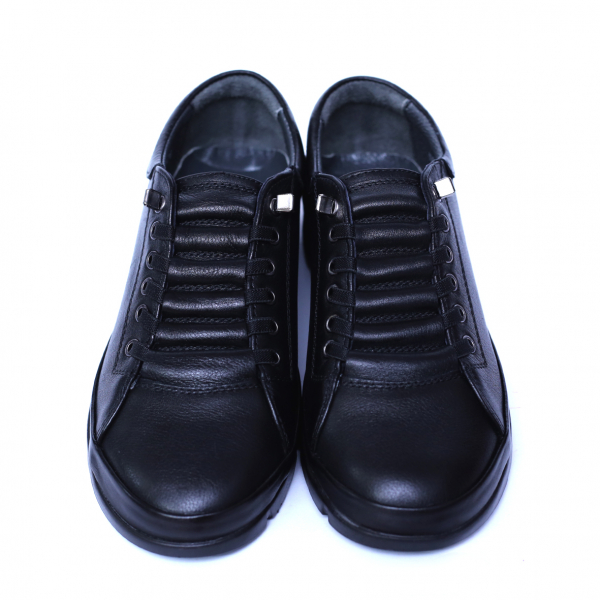 Pantofi dama din piele naturala, Snk, Goretti, Negru, 36 EU 1