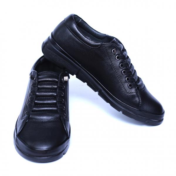 Pantofi dama din piele naturala, Snk, Goretti, Negru, 36 EU 2