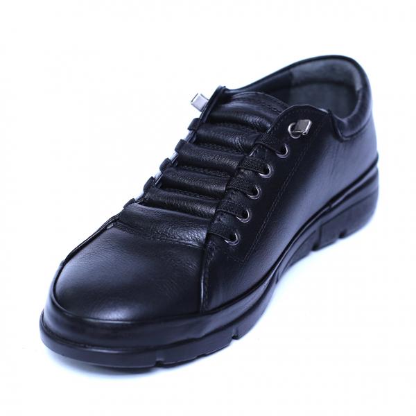 Pantofi dama din piele naturala, Snk, Goretti, Negru, 36 EU 0