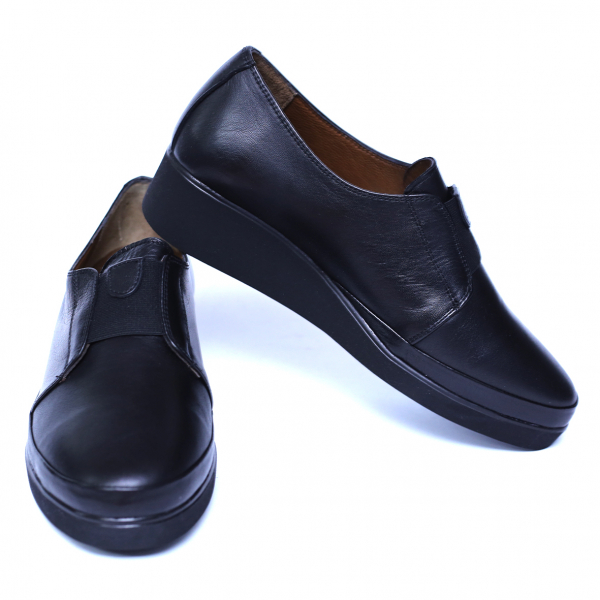 Pantofi dama din piele naturala, Sina, Anna Viotti, Negru, 41 EU 2