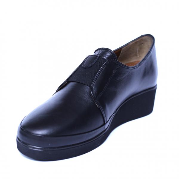 Pantofi dama din piele naturala, Sina, Anna Viotti, Negru, 41 EU 0