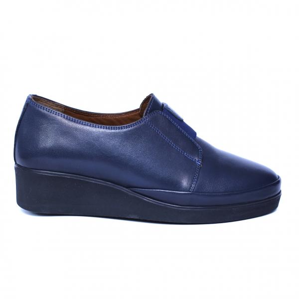 Pantofi dama din piele naturala, Sina, Anna Viotti, Albastru, 38 EU [3]
