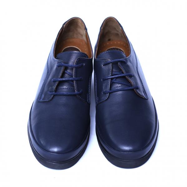 Pantofi dama din piele naturala, Jaqueline, Anna Viotti, Albastru, 40 EU [2]