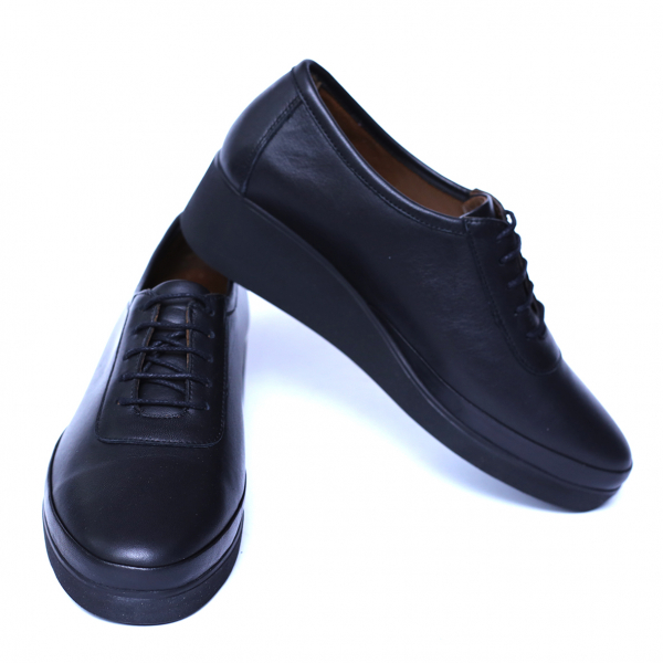 Pantofi dama din piele naturala, Sarabia, Anna Viotti, Negru, 40 EU [2]