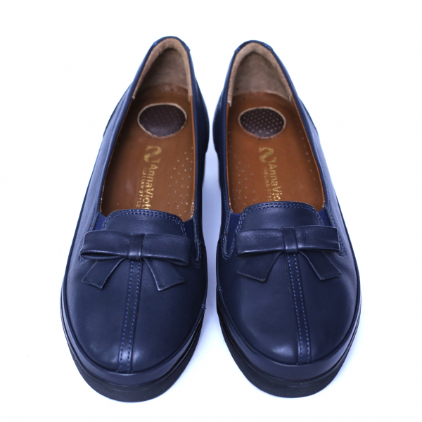 Pantofi dama din piele naturala, Butterfly, Anna Viotti, Albastru, 37 EU 1