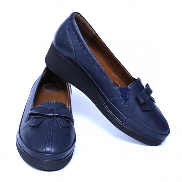 Pantofi dama din piele naturala, Butterfly, Anna Viotti, Albastru, 37 EU 2