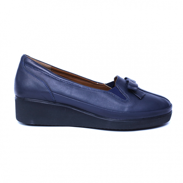 Pantofi dama din piele naturala, Butterfly, Anna Viotti, Albastru, 37 EU 3