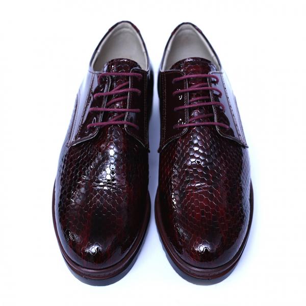 Pantofi dama din piele naturala, Cameleon, Alexin, Bordeaux, 38 EU 2