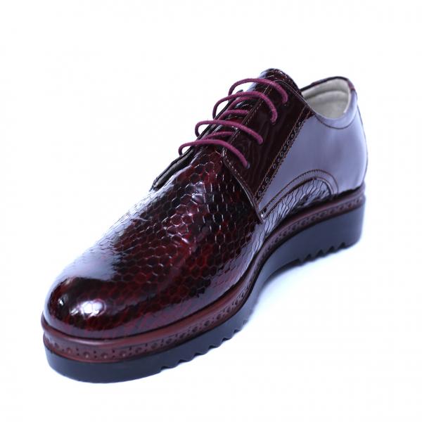 Pantofi dama din piele naturala, Cameleon, Alexin, Bordeaux, 38 EU 0