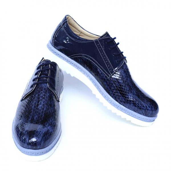 Pantofi dama din piele naturala, Cameleon, Alexin, Albastru, 40 EU [2]