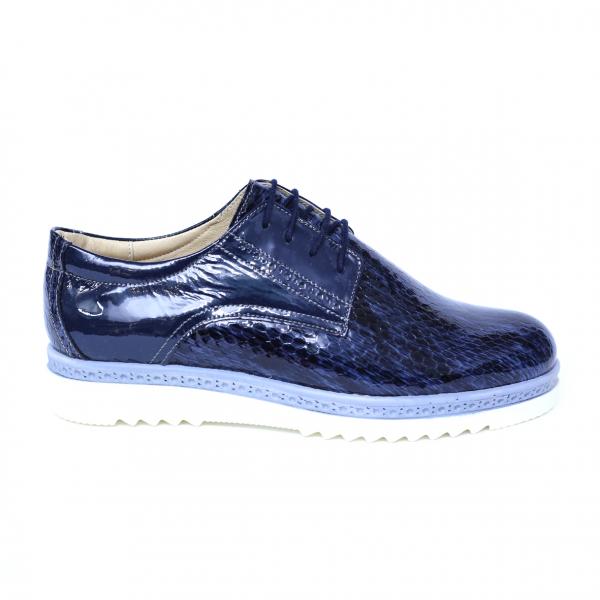 Pantofi dama din piele naturala, Cameleon, Alexin, Albastru, 40 EU [3]