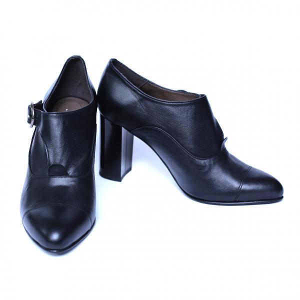 Pantofi dama din piele naturala, Meunier, Nist, Negru, 36 EU 2