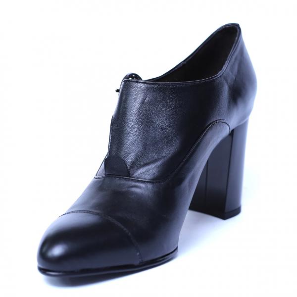 Pantofi dama din piele naturala, Meunier, Nist, Negru, 36 EU 0