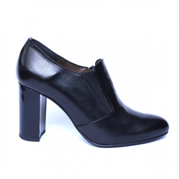 Pantofi dama din piele naturala, Serena, Nist, Negru, 35 EU 2