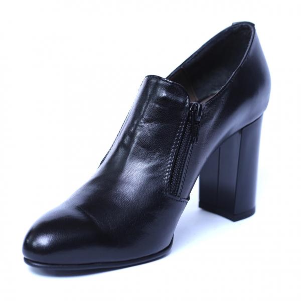 Pantofi dama din piele naturala, Serena, Nist, Negru, 35 EU 0