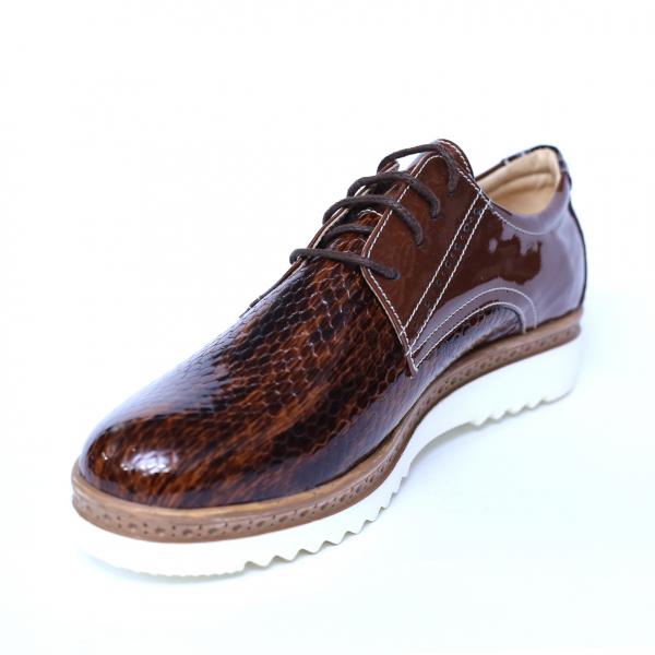 Pantofi dama din piele naturala, Cameleon, Alexin, Maro, 41 EU 0