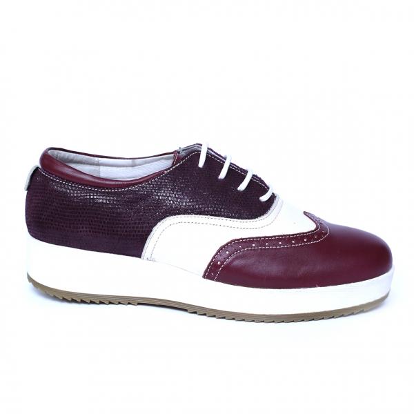 Pantofi dama din piele, Joe, Cobra, Bordeaux, 39 EU 2