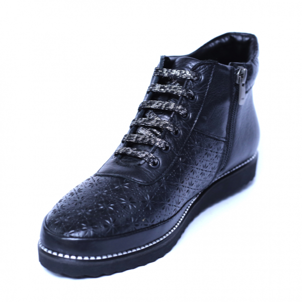 Pantofi dama din piele naturala, Row, Relin, Negru, 40 EU [0]