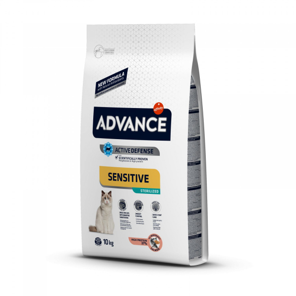 Advance Cat Sterilizat Sensitive Somon, 10 kg 0