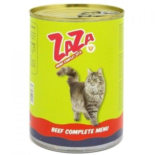 Conserva cu hrana umeda pentru pisici, carne de vita, ZAZA, 12 buc x 415 g 0