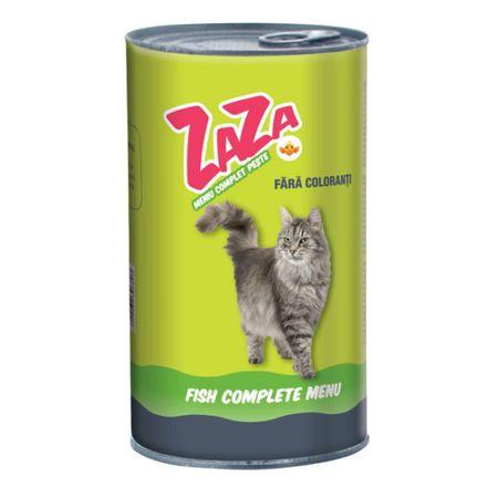 Conserva cu hrana umeda pentru pisici Zaza, peste, 415 g, set de 12 0