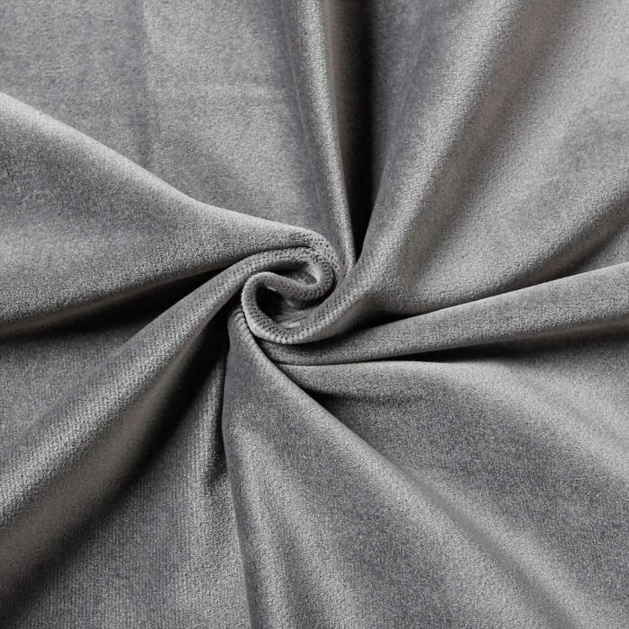 Set draperii soft cu rejansa din bumbac cu 4 ate tip fagure, Super, 200x210 cm, densitate 200 g/mp, Gri, 2 buc [1]