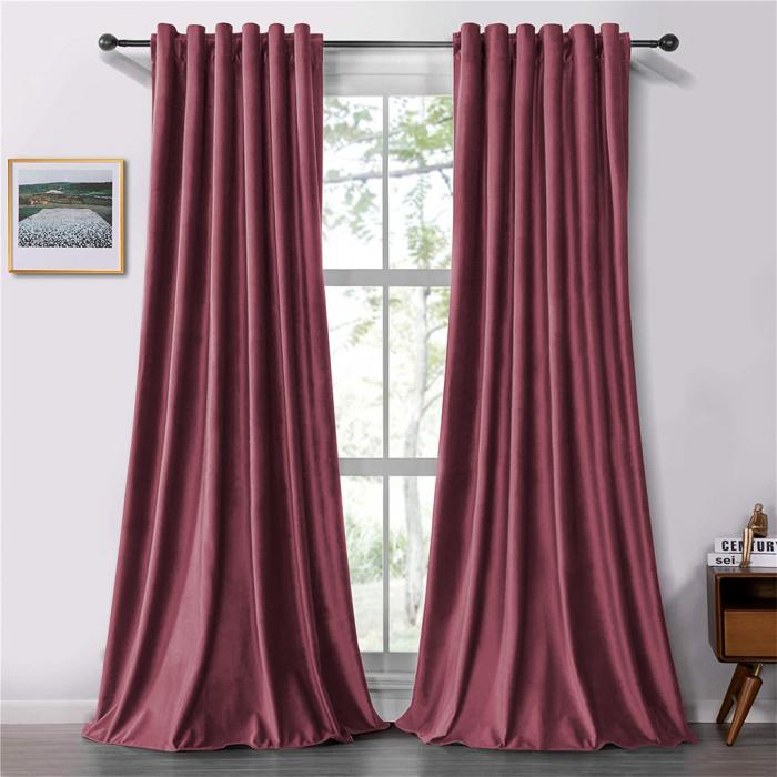 Set draperii soft cu rejansa transparenta cu ate pentru galerie, Super, 200x210 cm, densitate 200 g/mp, Roz, 2 buc [0]