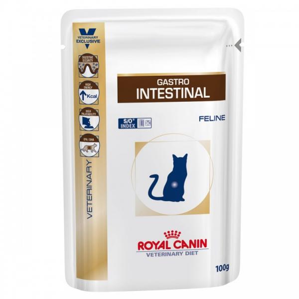Hrana dietetica pentru pisici Royal Canin, Gastro Intestinal Moderate Calorie, 12 buc x 100 g 0