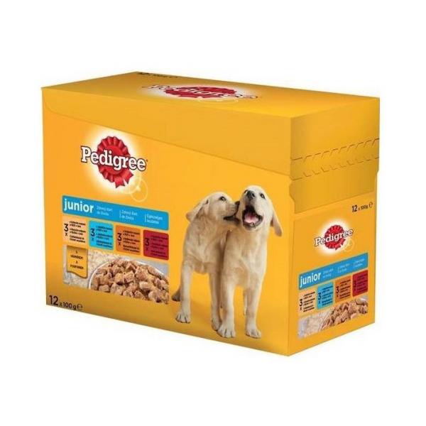 Hrana pentru caini Pedigree Junior plic 12 X 100 g 0