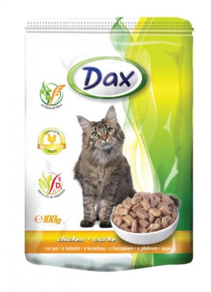 Hrana umeda cu pui pentru pisici, Dax, 24 plicuri x 100 g [0]