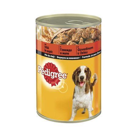 Hrana umeda pentru caini cu vita in aspic, Pedigree, 400 g 0