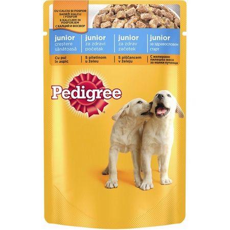 Hrana umeda pentru caini Pedigree Junior, Pui, 100g [0]