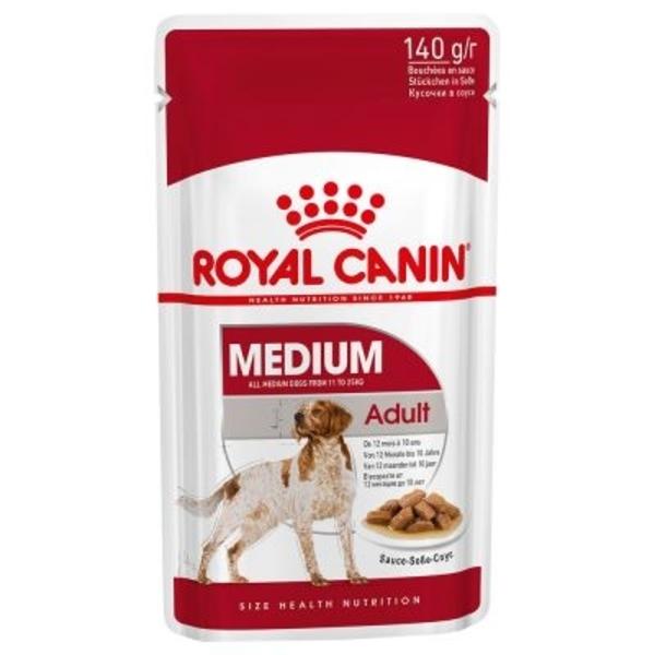 Hrana umeda pentru caini Royal Canin, Medium, Adult, set 10 buc, 140g 0