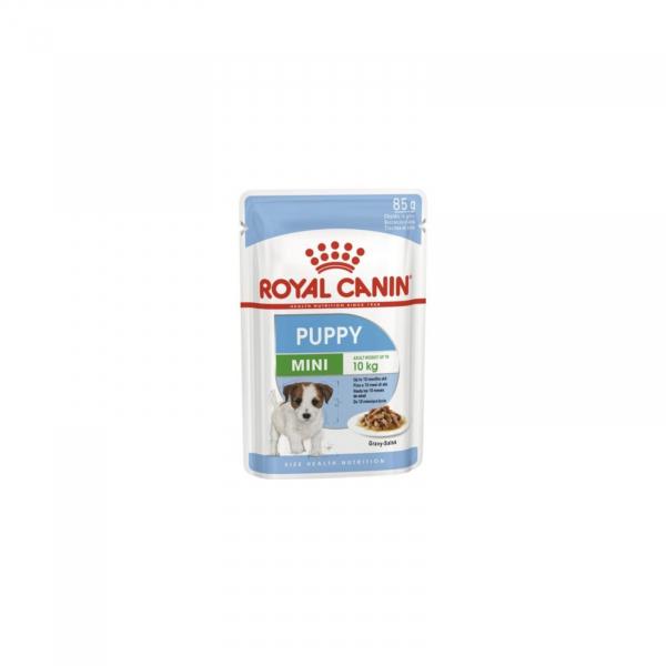 Hrana umeda pentru caini, Royal Canin, Mini Puppy, 12 x 85g [0]