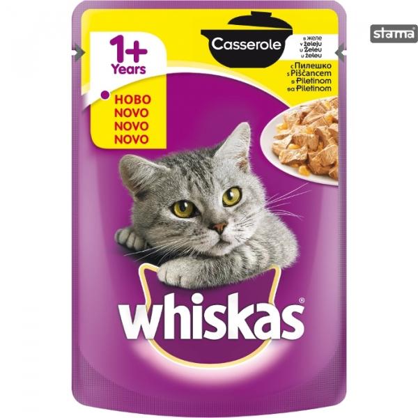Hrana umeda pentru pisici cu pui, Whiskas, 12 buc x 85g [0]