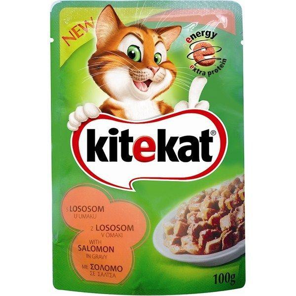Hrana umeda pentru pisici, Kitekat, cu Somon, 100 g [0]