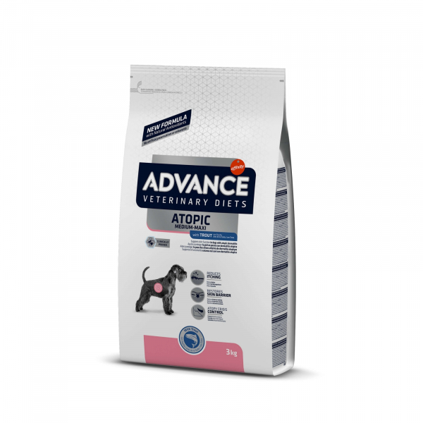 Hrana uscata pentru caini, Advance Dog Atopic Derma Care, 3 Kg [0]