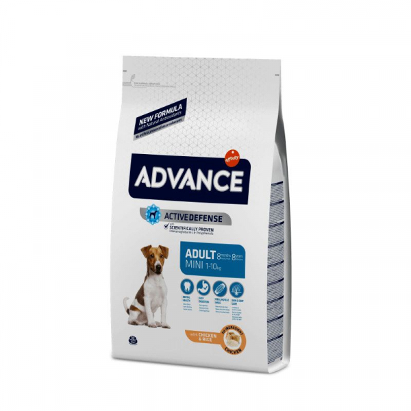 Hrana uscata pentru caini, Advance Mini Adult, sac 7.5 Kg 0